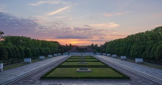 Minnesplats för soldater i Treptower Park i Berlin